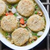 Turkey & Pepper Biscuit Pot Pie | Garlic + Zest