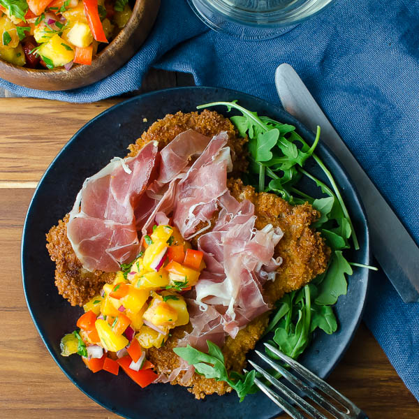 Crispy Pork Cutlets and Peach Salsa | BlogHer