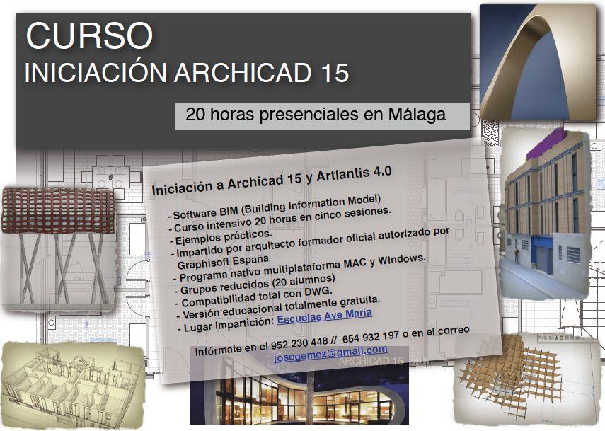 Curso b sico de archicad garquitectos for Cursos facultad de arquitectura