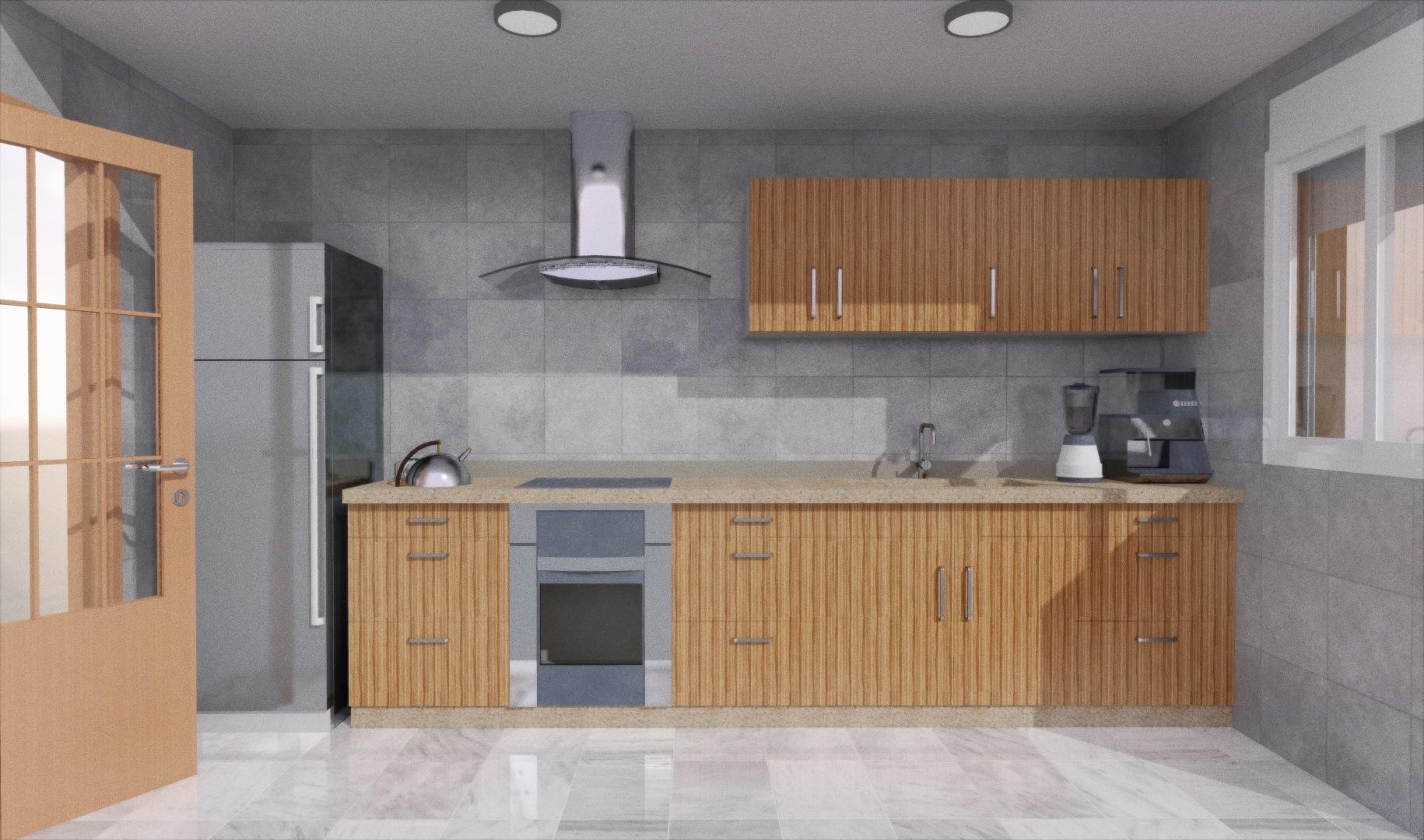 Cuanto mide una cocina garquitectos for Cocina 3 metros pared
