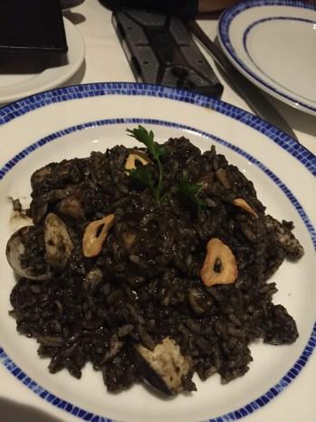 Risotto negro de Casa Portuguesa
