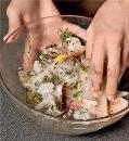 Шашлыки из рыбы с креветками. Шаг 2
