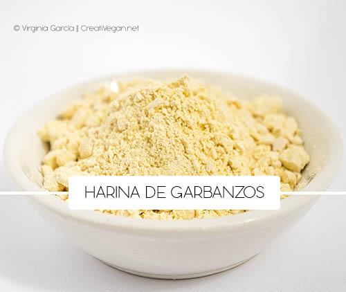 Harina de garbanzos - Cómo cocinar con legumbres - GastronomiaVegana.org