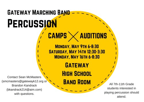 2016 Marching Band Percussion Camps
