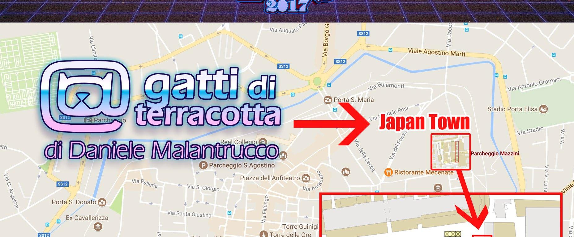 Lo stand dei Gatti di Terracotta a Lucca Comics 2017