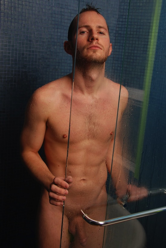 Uncut Guy In The Shower (6)
