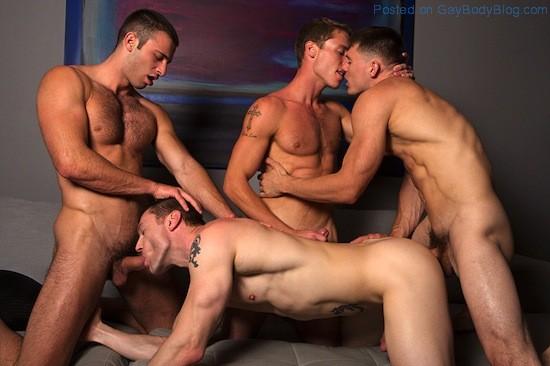 Gay Porn - Bareback Jock Orgy (7)