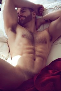 Hairy Hunk Naked And Teasing - What's Not To Love?