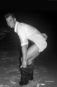 Brad Meyer naked in the surf!