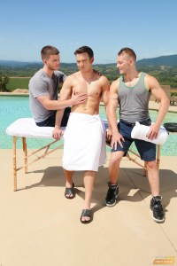 New Gay Threesome With Addison Graham Fucked By Ivan James And Jake Karhoff
