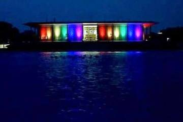 US Embassy in New Delhi lights up in LGBT colours to pay tribute to Orlando victims