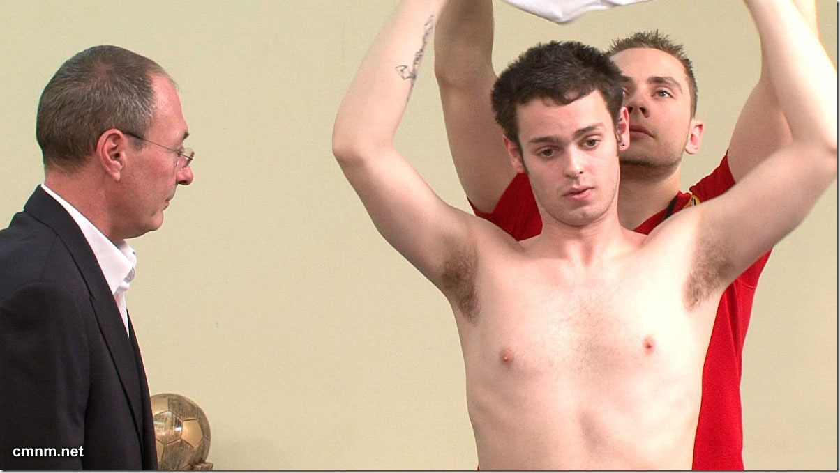 clothed male naked male Footballer Paul Stripped (2)