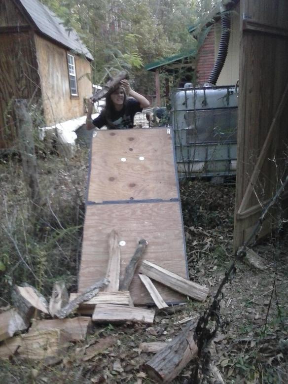 firewood-chute