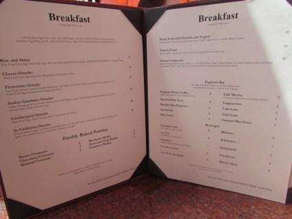 Special SDCC menu = expensive
