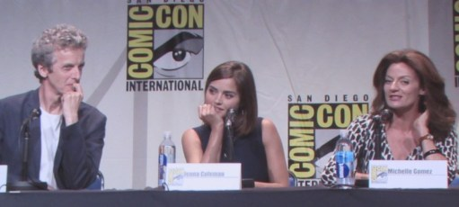 SDCC 2015 Thursday Doctor Who Panel, Peter Capaldi, Jenna Coleman, Michelle Gomez