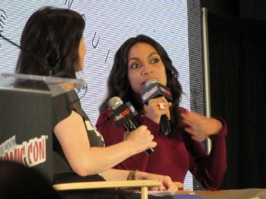 Rosario Dawson at the Artemis panel at NYCC 2017