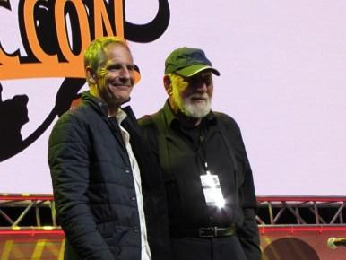 Don Belisario and Scott Bakula at the Quantum Leap panel at LA Comic Con 2017
