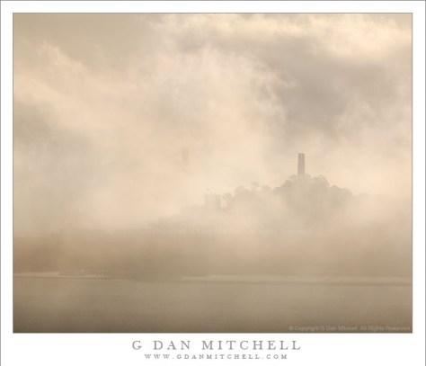Coit Tower, Fog