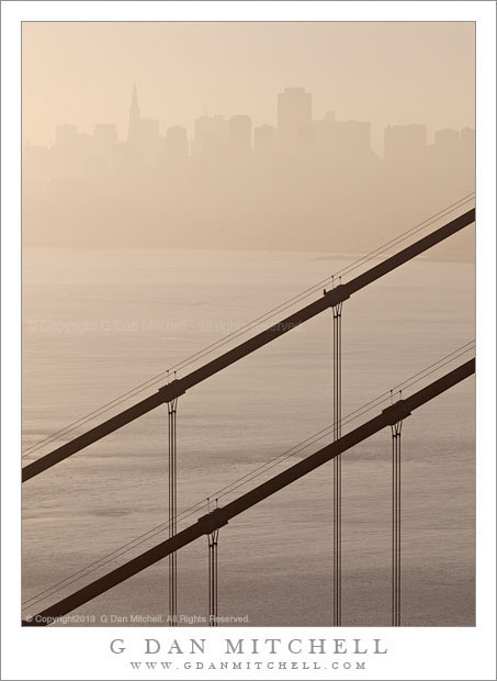 San Francisco Skyline, Bridge Cables