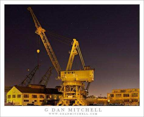 Ship Yard Crane, Night Sky