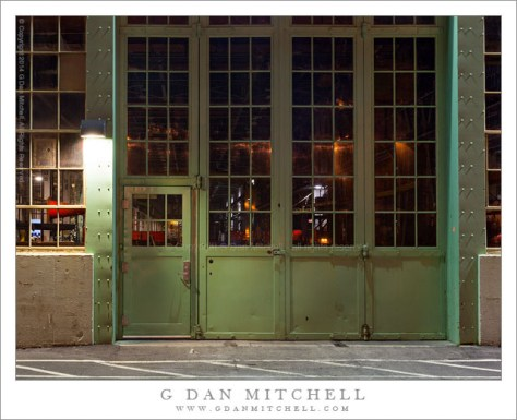 Green Shop Doors