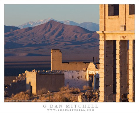 Rhyolite, Amargosa Valley, Telescope Peak