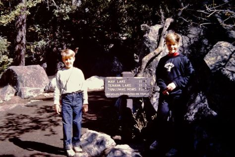G Dan and Richard Mitchell in Yosemite, date unknown