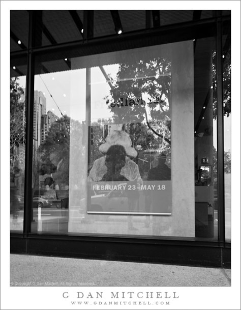 Self-portrait with Friedlander Poster - SFMoMA