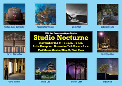 Studio Nocturnes 2014 —Exhibiting at San Francisco Artspan 2014