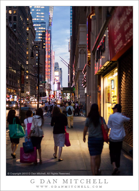 New York Sidewalk, Evening