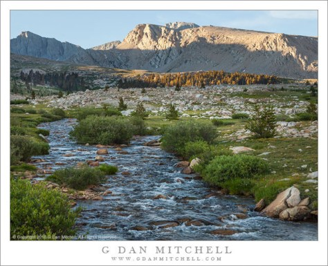 Timberline Creek and Mesa, Evening