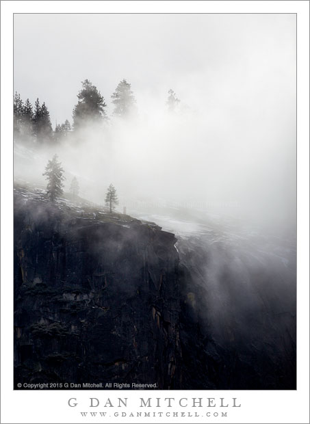 Cliff's Edge, Winter Mist