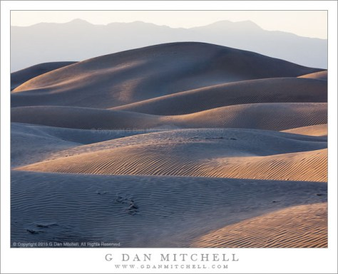 Dunes and Mountains, Evening Shadows