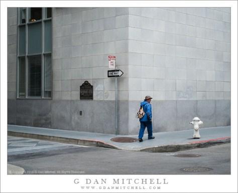 Man in Blue, One Way Corner