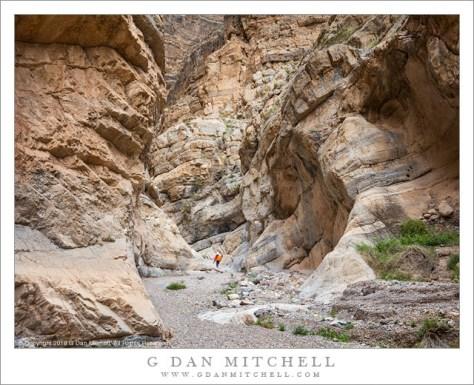 Narrow Canyon, Hiker