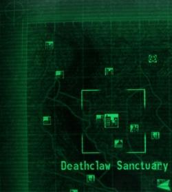 la posizione geografica del Deathclaw sanctuary