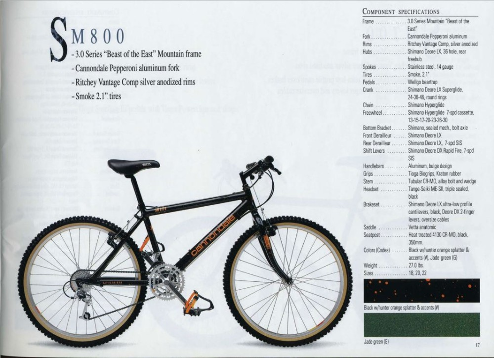 1991 Cannondale MTB (click for vintage bike action)