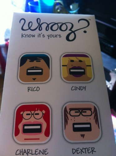 Whooz iPhone and iPad Character Sets