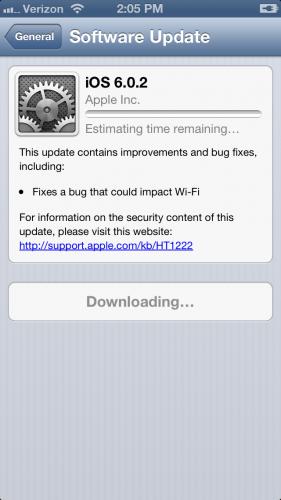 iOS 602 Update