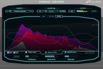 Zynaptiq upcoming plugin UNMIX::DRUMS at Musikmesse