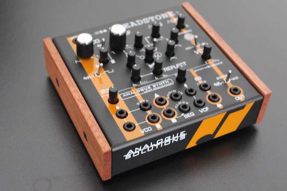 Analogue Solutions spreads synthBlocks series wings with tiny Treadstone true analogue mono synth
