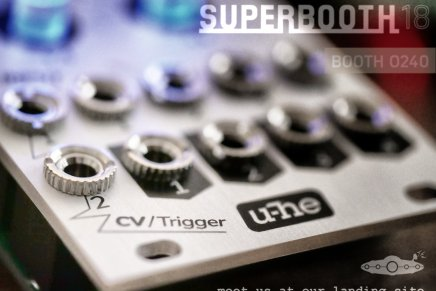 U-HE shows a Eurorack teaser for the upcoming  Superbooth show in Berlin