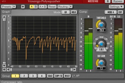 Voxengo Polysquasher 2.3 mastering compressor plugin released
