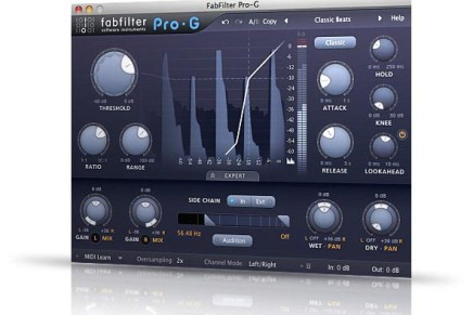 FabFilter Pro-G Gate/Expander plug-in Now Available