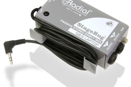 Radial Engineering introduce StageBug SB-5 Sidewinder Laptop Direct Box
