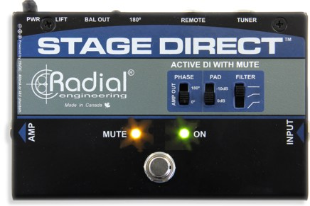 Radial introduces the StageDirect – muting direct box