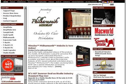 IK Multimedia launches official Miroslav Philharmonik website