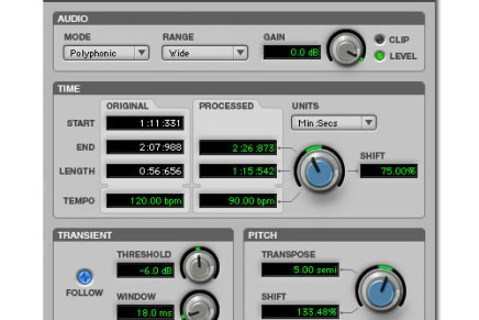 New DigiRack Time Shift Plug-in …free