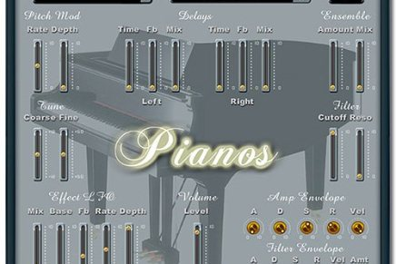 MHC releases Pianos for Mac OS X (Audio Unit)