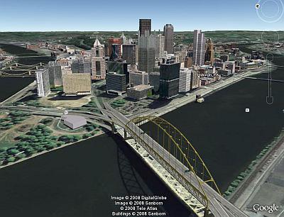 Pittsburgh 3D Buildings in Google Earth